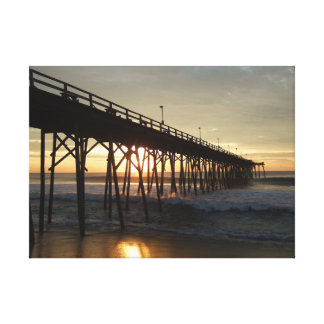Outer Banks fishing pier Canvas Print