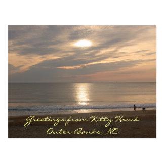Outer Banks Kitty Hawk Sunset Beach Postcard