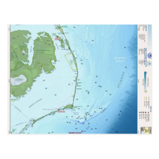 Outer Banks Map Postcards
