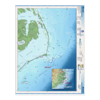 Outer Banks Map Postcard