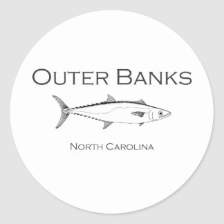 Outer Banks North Carolina King Mackerel Classic Round Sticker