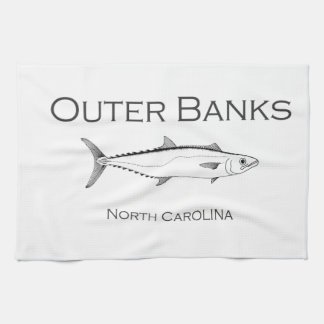 Outer Banks North Carolina King Mackerel Tea Towel
