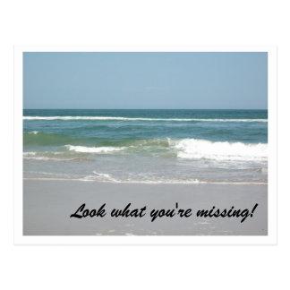 Outer Banks Post Card Ocean Scene