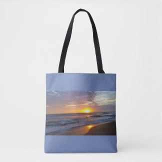 Outer Banks sunset OBX tote bag Beach Please