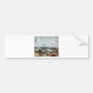 Outer harbour of Le Havre by Camille Pissarro Bumper Sticker