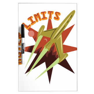 Outer Limits Rocket Dry Erase Whiteboard