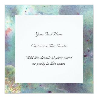 Outer Space. 13 Cm X 13 Cm Square Invitation Card