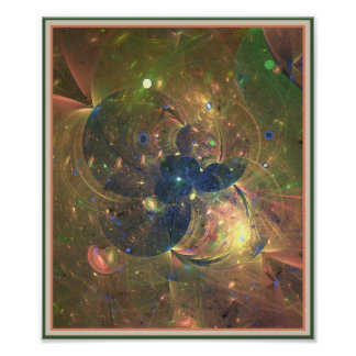 Outer Space  Abstract  Painting, Poster