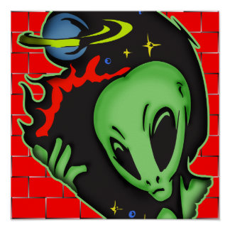 Outer Space Alien Poster