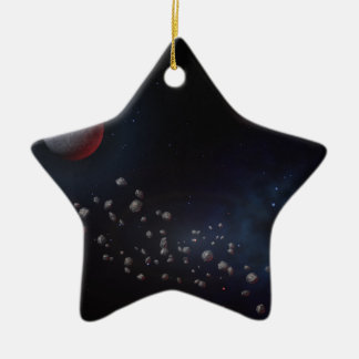Outer Space Asteroids & Planets Ceramic Ornament