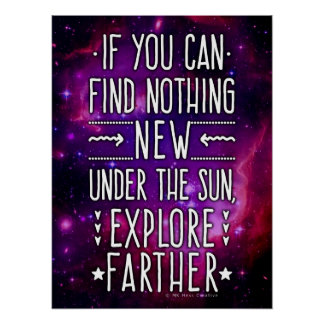 Outer Space Galaxy / Nebula Exploration Words 2 Poster