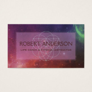 Outer Space Modern Sacred Geometry | New Age Business Card