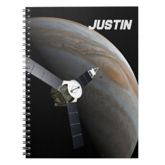 Outer space planet and probe notebook