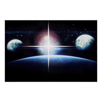 Outer Space Planets and Stars Posters
