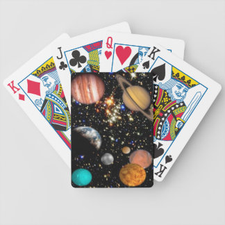 Outer space planets galaxy poker deck