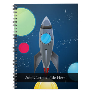 Outer Space Rocket Ship Notebooks