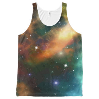 Outer Space Starfield Design All-Over Print Singlet