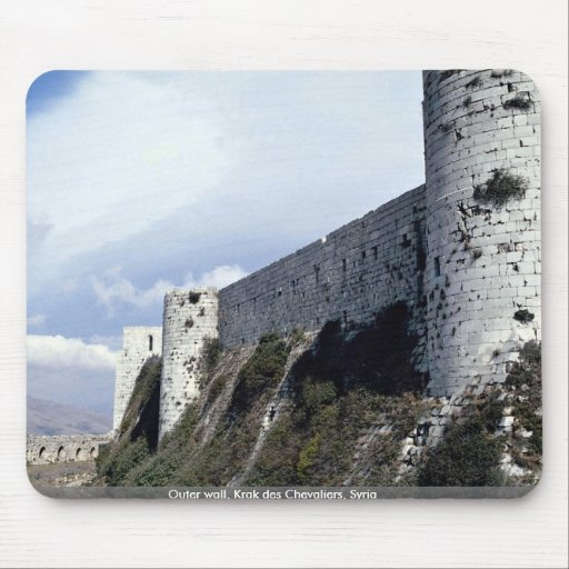 Outer wall, Krak des Chevaliers, Syria Mouse Pads