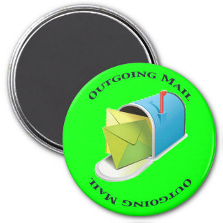Outgoing Mail 7.5 Cm Round Magnet