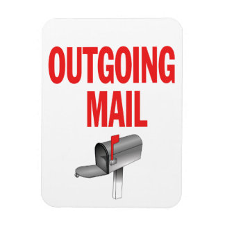 Outgoing Mail pickup magnet