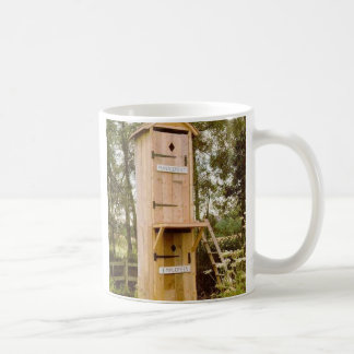 outhouse coffee mug