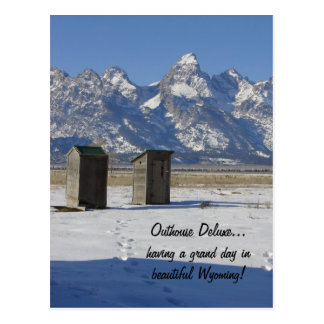 Outhouse Deluxe Postcard