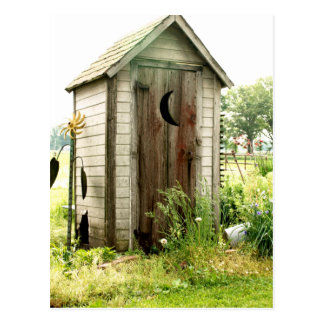 outhouse postcard