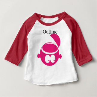 outiline kids Rose and red Baby T-Shirt
