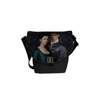 Outlander | Claire And Jamie Damask Portrait Courier Bags