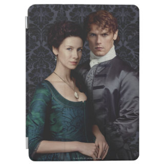 Outlander | Claire And Jamie Damask Portrait iPad Air Cover