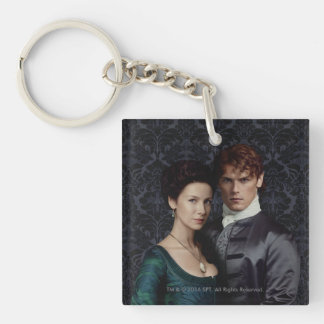 Outlander | Claire And Jamie Damask Portrait Key Ring