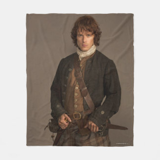 Outlander | Jamie Fraser - Kilt Portrait Fleece Blanket
