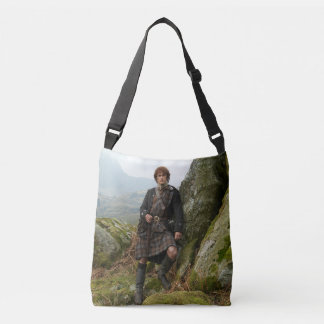 Outlander | Jamie Fraser - Leaning On Rock Crossbody Bag