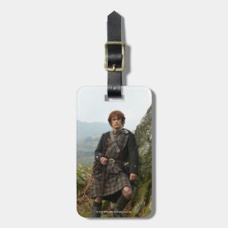 Outlander | Jamie Fraser - Leaning On Rock Luggage Tag
