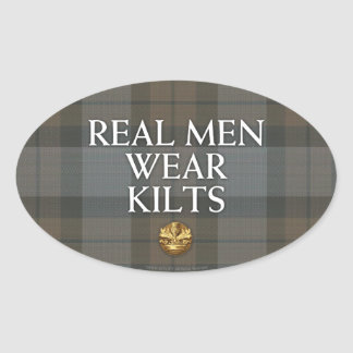 Outlander | Real Men Wear Kilts Oval Sticker