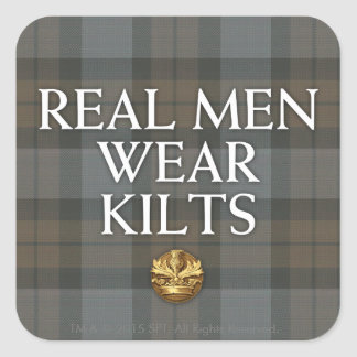 Outlander | Real Men Wear Kilts Square Sticker
