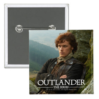 Outlander | Reclining Jamie Fraser Photograph 15 Cm Square Badge