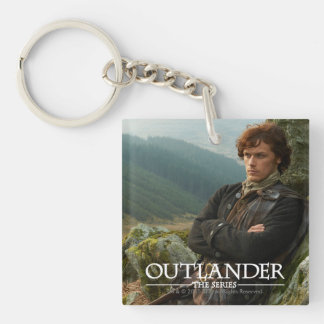 Outlander | Reclining Jamie Fraser Photograph Double-Sided Square Acrylic Key Ring