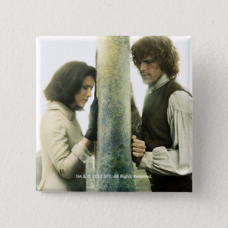Outlander Season 3 | Claire and Jamie 15 Cm Square Badge