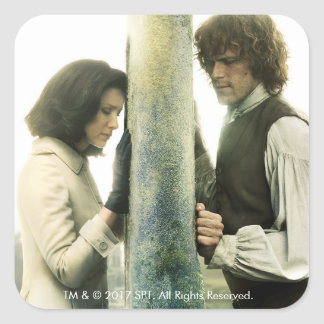 Outlander Season 3 | Claire and Jamie Square Sticker