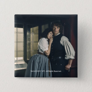 Outlander Season 3 | Jamie and Claire Affection 15 Cm Square Badge