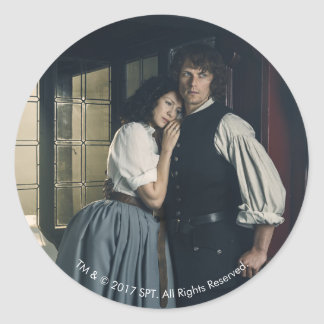 Outlander Season 3 | Jamie and Claire Affection Classic Round Sticker