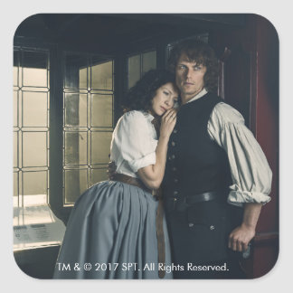 Outlander Season 3 | Jamie and Claire Affection Square Sticker