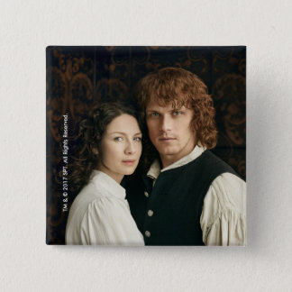 Outlander Season 3 | Jamie and Claire Photograph 15 Cm Square Badge