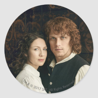 Outlander Season 3 | Jamie and Claire Photograph Classic Round Sticker