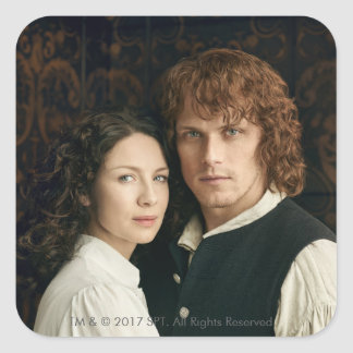 Outlander Season 3 | Jamie and Claire Photograph Square Sticker