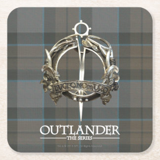 Outlander | The MacKenzie Clan Brooch Square Paper Coaster