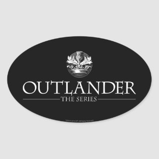 Outlander | The Series Logo White V1 Oval Sticker
