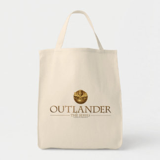 Outlander Title and Crest Grocery Tote Bag