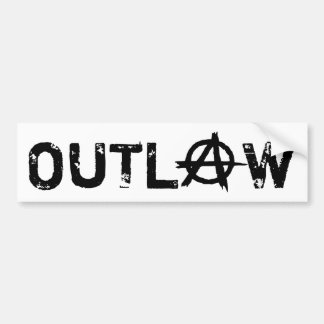 Outlaw Anarchy: Black and White Bumper Sticker